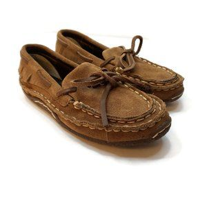 Durango Kids Brown Slip On Casual Leather Moccasin